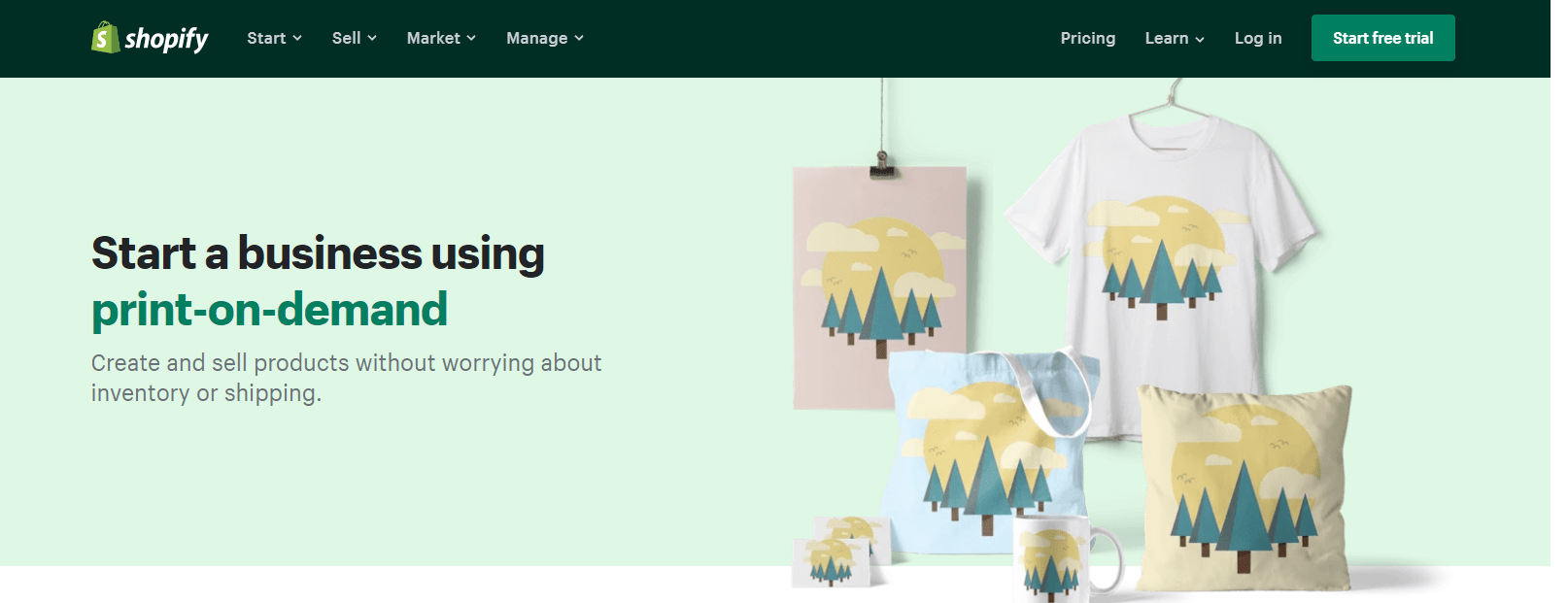 print-on-demand for Shopify