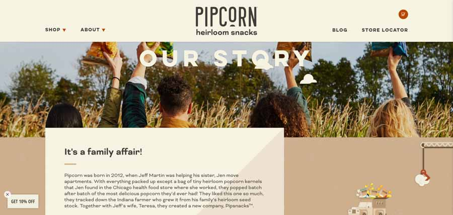 Pipcorn - exceptional Shopify store