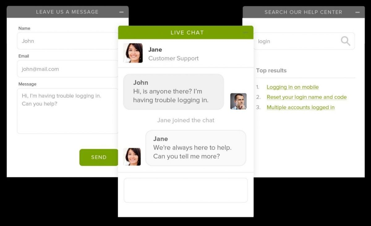 personalized shopping experience - using live chat