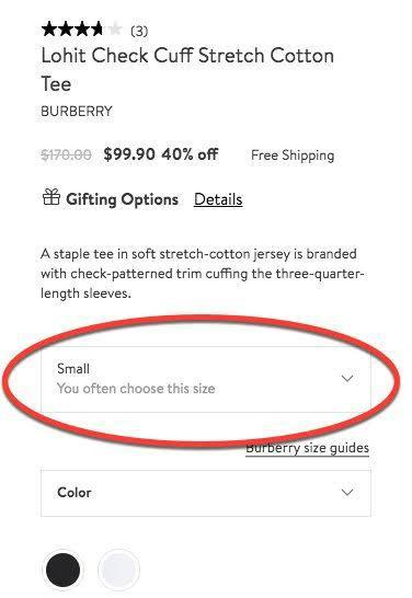 personalized shopping experience - consider previous purchase