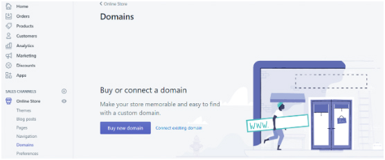 set up a Shopify store-domain