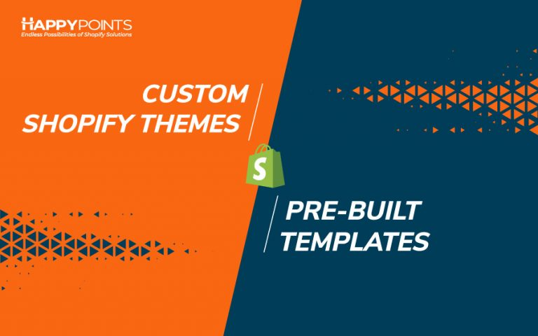 custom Shopify themes vs pre-built templates