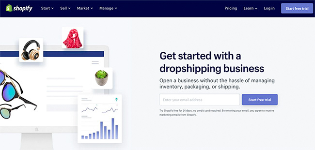 Shopify business opportunities - start a dropshipping business