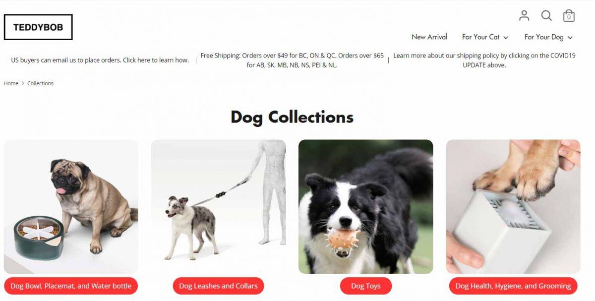 Shopify business opportunities - open a pet shop