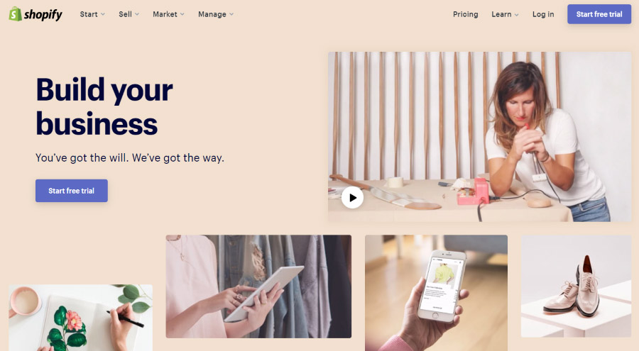 start your business idea with Shopify