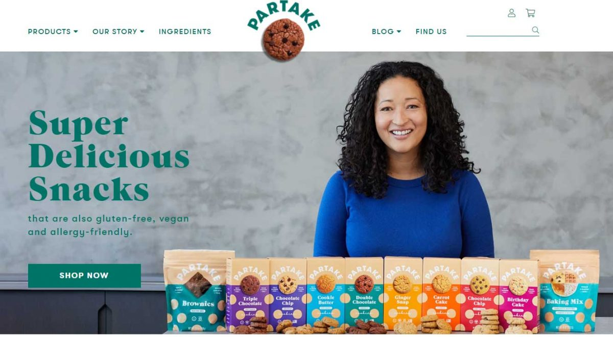 successful Shopify stores - Partake Foods
