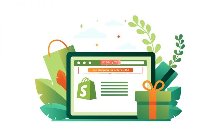 Use Shopify announcement bars that boost conversion rate