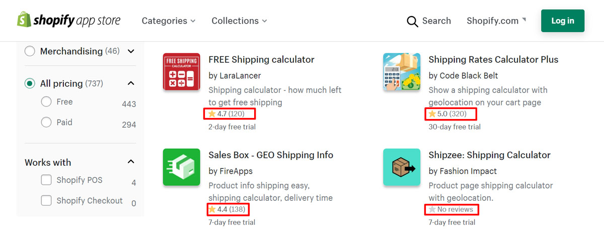 Choose Shopify apps based on social proof