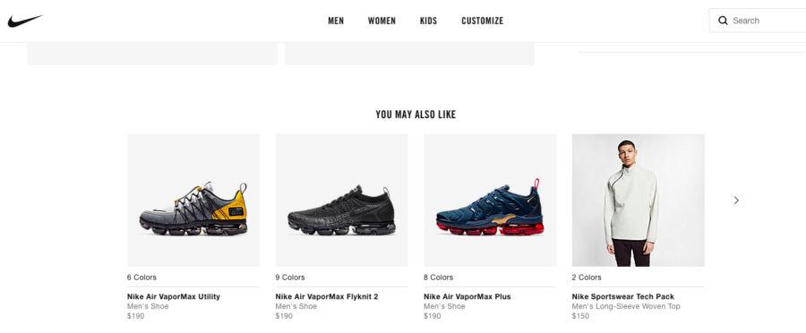nike product recommendations
