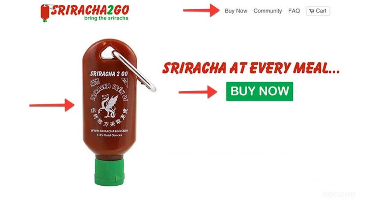 siracha product page