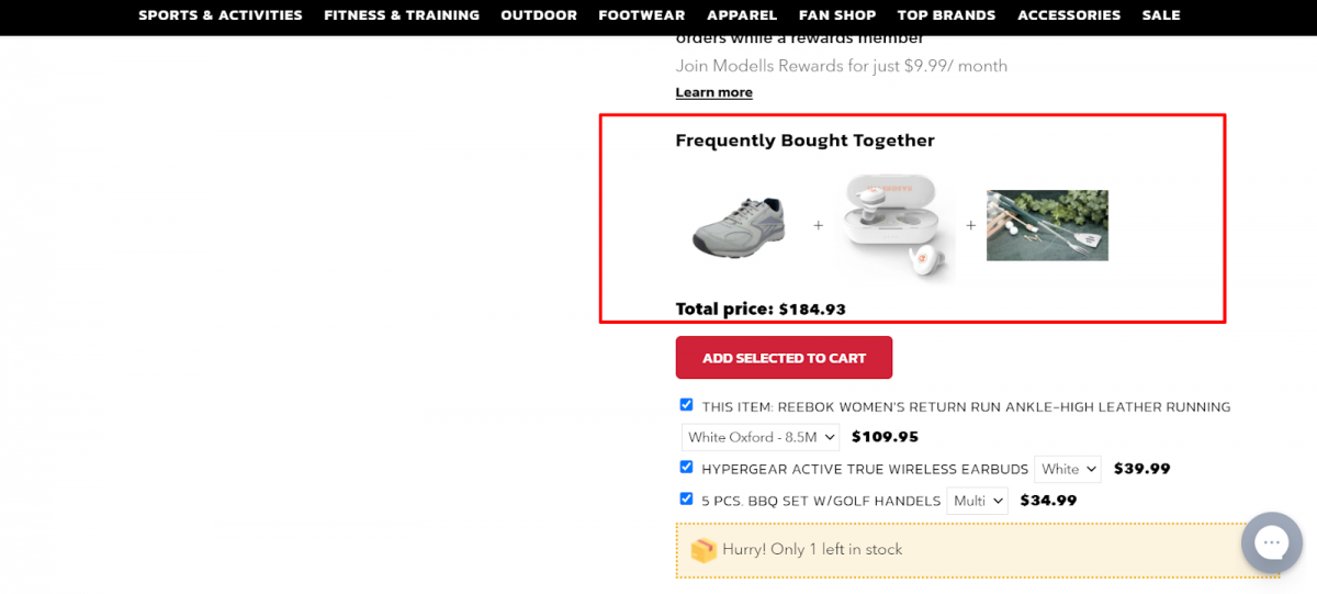 modells product recommendations