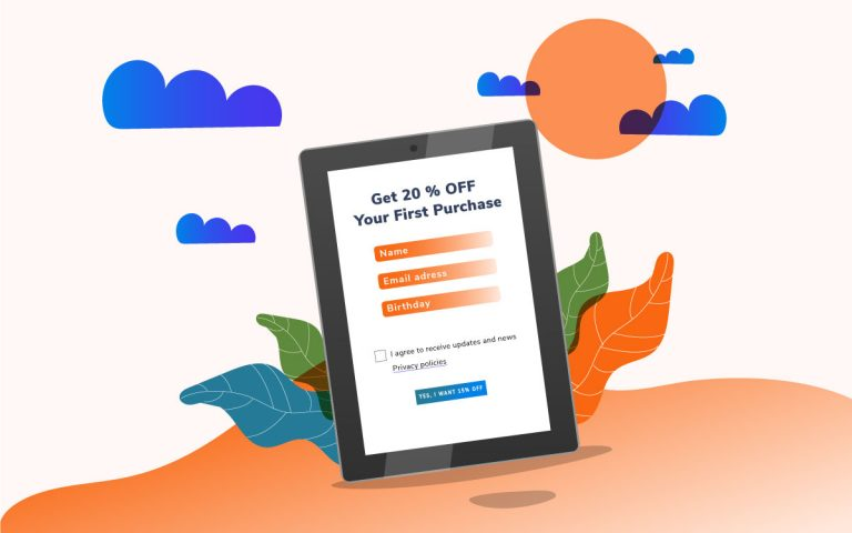 Shopify newsletter signup form