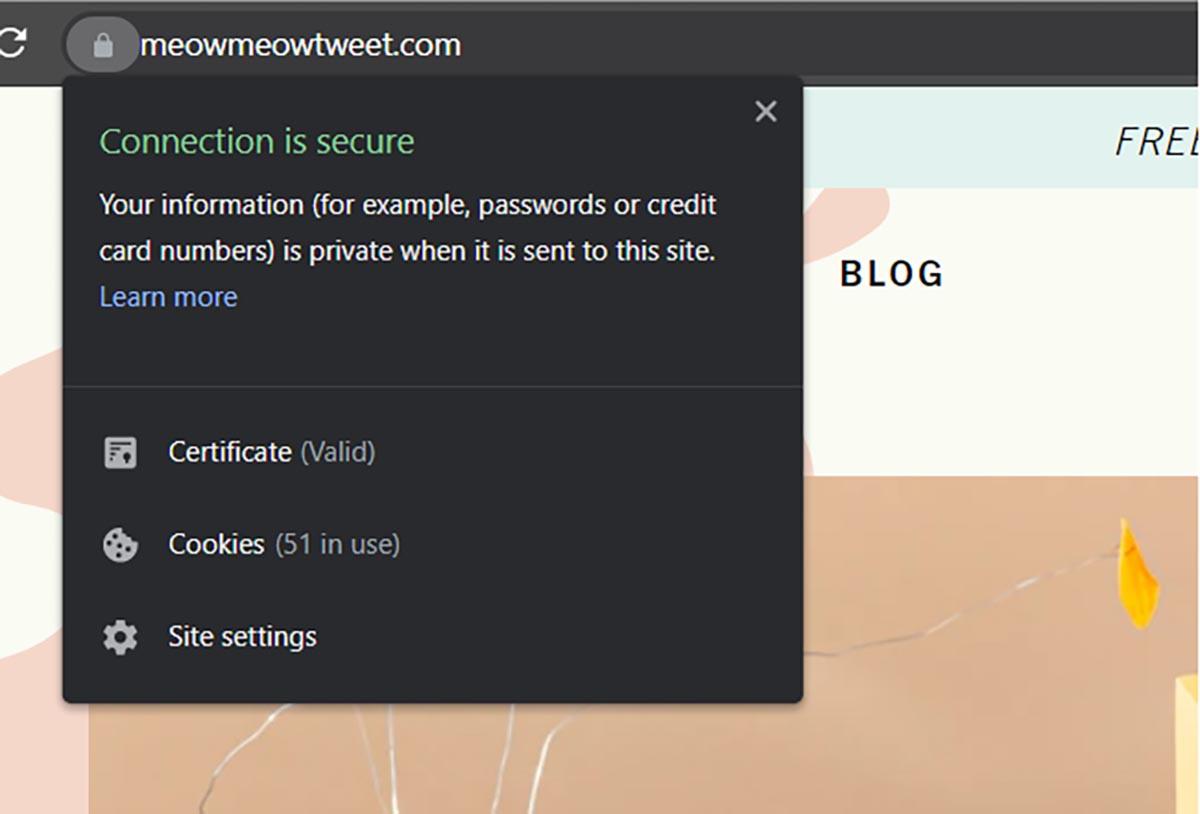 SSL certificate lock badge google chrome