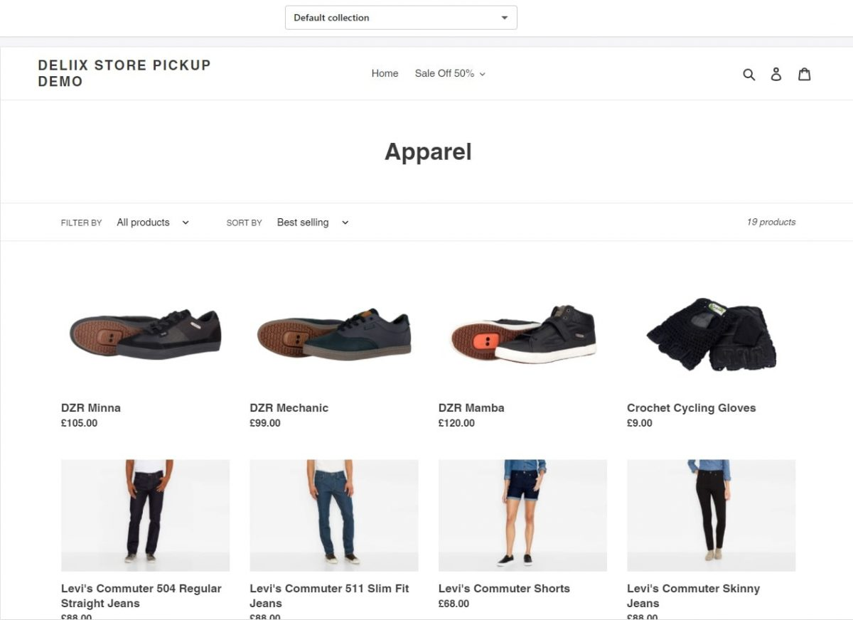 Edit Shopify collection page